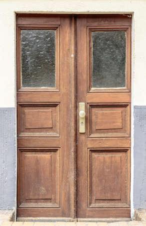 old brown wood door  photo