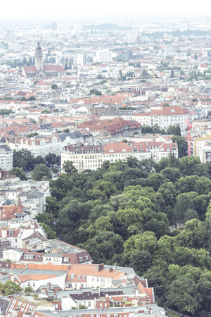 aerial view of berlin, germany with park.
