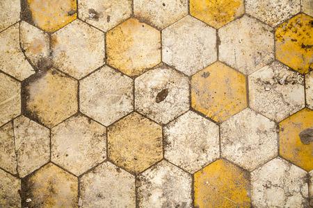 very dirty hexagonal floor for backgrounds