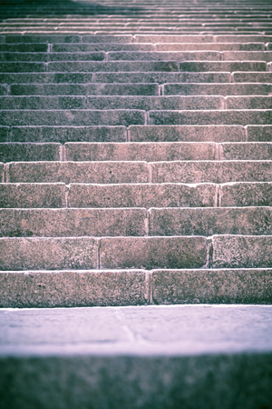 close up of ancient steps, toned image for backgrounds. photo
