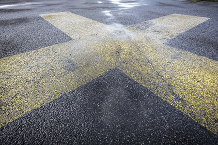 road marking on an airstrip background photo
