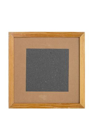 штейн: squared old picture frame with cardboard matte, isolated on white Фото со стока