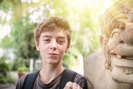 asian culture: portrait of a teenage boy