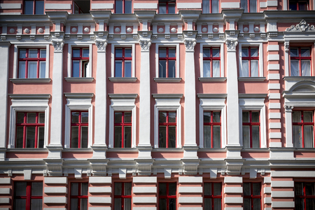 renovate old building facade: old facade of a house in berlin kreuzberg