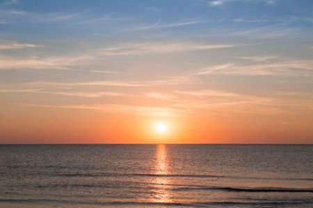 sunset over the ocean for backgrounds Stock Photo