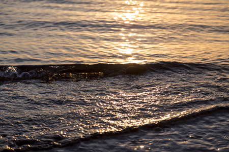 ripple effect: ocean ripples at the sunset for backgrounds