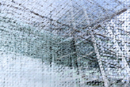 alienated: architectural pattern with glass for backgrounds