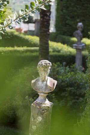antique sculpture in a Italian garden
