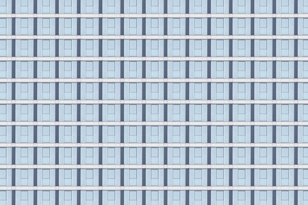 blue window facade pattern for backgrounds Stock Photo