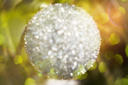 blurred shot of an glittering ball with bokeh, for backgrounds