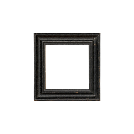 old black picture frame, isolated on white Standard-Bild