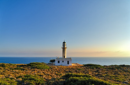 Gerogompos lighthouse, the westernmost point in Greece, Kefalonia Stock Photo