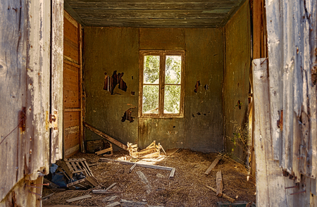interior of abandoned house Stockfoto