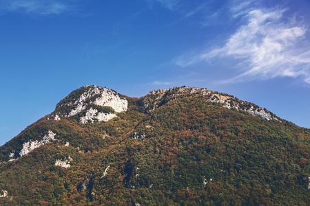 Italy Tuscany, mountain with blue sky