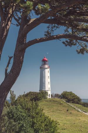 landscape and lighthouse Dornbusch at Hiddensee island Reklamní fotografie