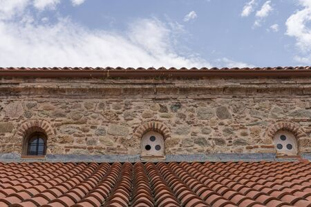 the roof of an old monastery, Greece