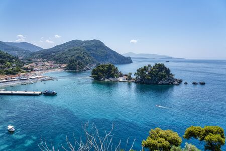 l'île Panagia à côté de la ville de Parga, Grèce