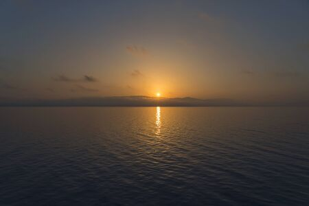 sunrise over the greek sea