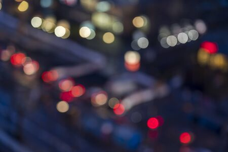colorful bokeh of a blurred street for backgrounds 写真素材
