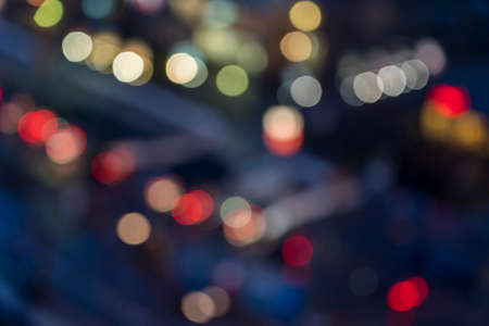 colorful bokeh of a blurred street for backgrounds Stockfoto