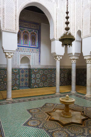 inlays: Tomb of Moulay Ismail in Meknes with mosaics