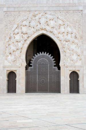 mosques: Hassan II Mosque in Casablanca Stock Photo