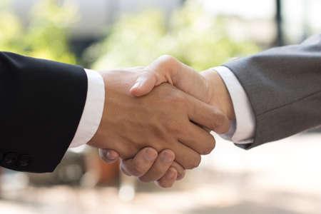 business shake hands, Reach agreement