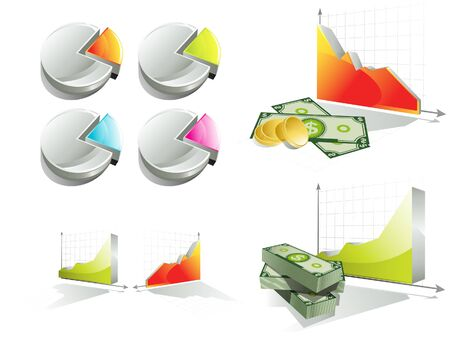 Diagrams and stunt of money Illustration