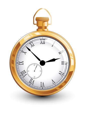 Reloj de oro viejo