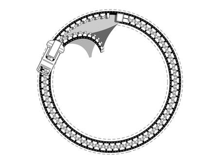 Round zipper labels