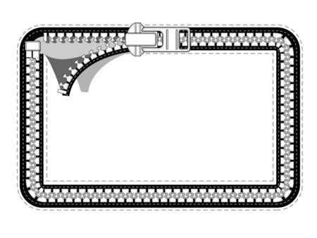 unzipped: Rectangular zipper labels