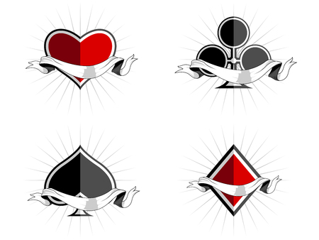Deck of cards with ribbon