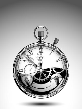 Cronómetro con mecanismo abierto Foto de archivo - 69703305