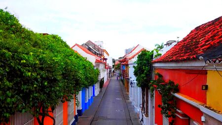 A colored street in South America, a beautiful and original place