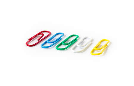 paperclip: Colourful paperclip