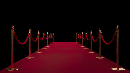 Red carpet enterance. Private event. Film festival. Celebrities. Realistic 3D render