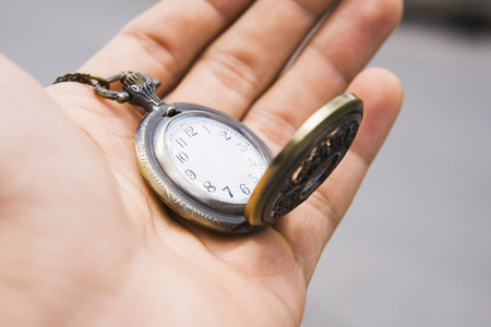 hour hand: Photo Illustration of pocket watch without hands  need more time concept