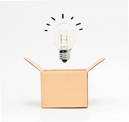 think out of the box: Think out of the box or thinking outside the box concept, Stock Photo