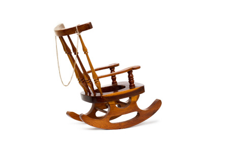 rocking: rocking chair isolated on white