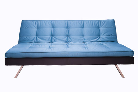 backgraound: blue sofa isoalted on white backgraound Stock Photo