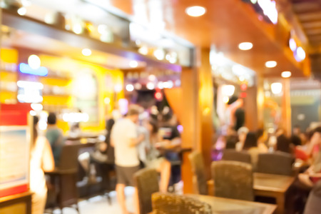 Coffee shop and restaurant blurred background Stok Fotoğraf