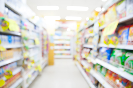 Blurred supermarket for background