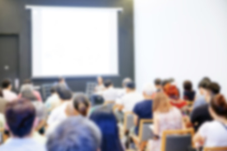 Blurred background of Business conference and presentation. audience at the conference room Standard-Bild