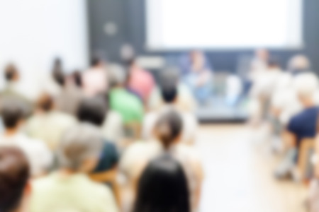 Blurred background of Business conference and presentation. audience at the conference room 写真素材
