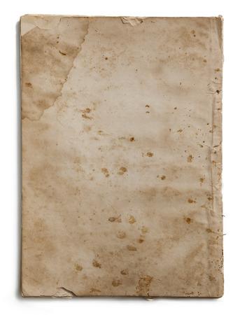 Old Paper texture. vintage paper background or texture; brown book paper texture Standard-Bild - 126589911