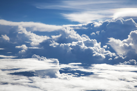 Beautiful Skyline View above the Clouds from air plane Standard-Bild - 126590140