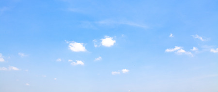 beautiful blue sky with white clouds background, Nature background, Banner Standard-Bild - 126589994