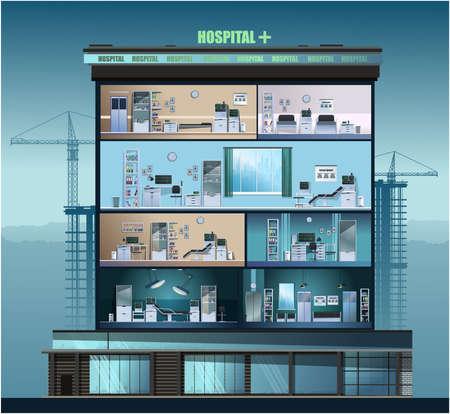 The building of the hospital. Illusztráció