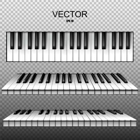 Realistic keys of a piano, synthesizer. Vector Illusztráció