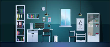 Doctor's office in the hospital. Vector.